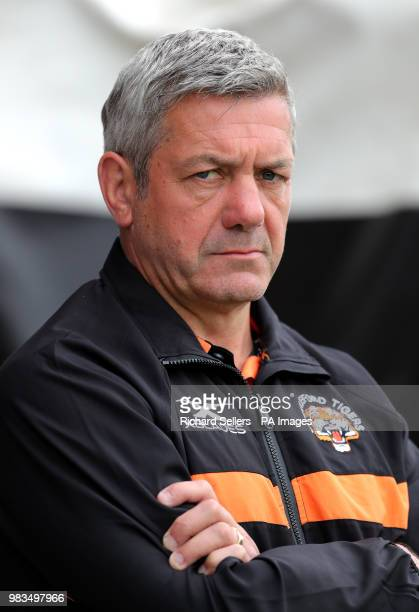 Castleford Tigers head Coach Daryl Powell at the Betfred Super League match at the MendAHose Jungle Casteford