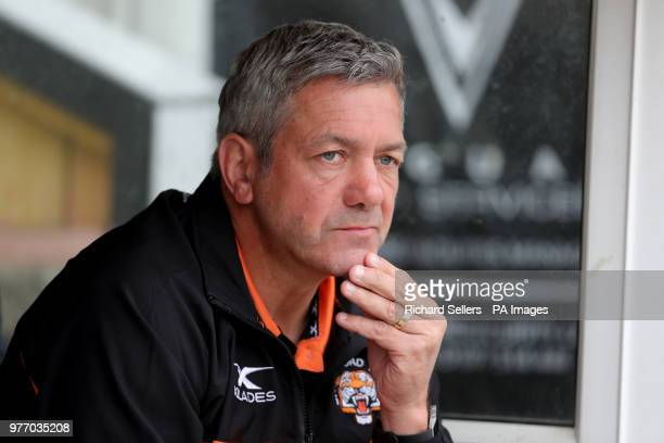 Castleford Tigers head Coach Daryl Powell during the Betfred Super League match at the MendAHose Jungle Casteford