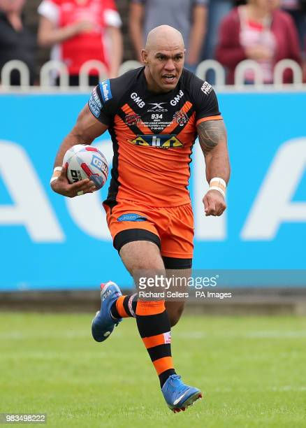 Castleford Tigers' Jake Webster during the Betfred Super League match at the MendAHose Jungle Casteford