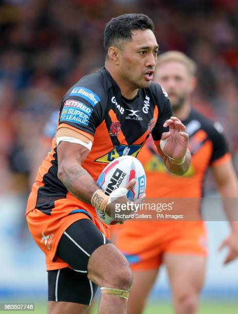 Castleford Tigers' Quentin LauluTogaga'e during the Betfred Super League match at the MendAHose Jungle Casteford