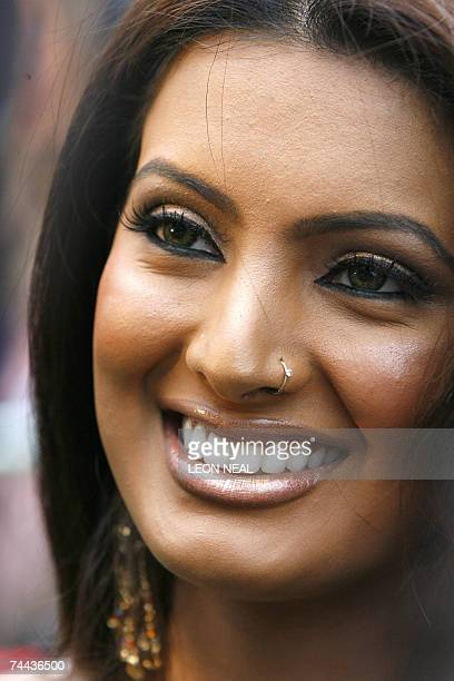 Indian actress Geeta Basra arrives at the World Premiere of the new film 'The Train' in Castleford northern England 07 June 2007 The International...