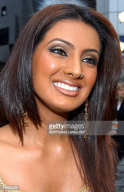 Indian actress Geeta Basra smiles as she arrives at the World Premiere of the new film 'The Train' in Castleford northern England 07 June 2007 The...