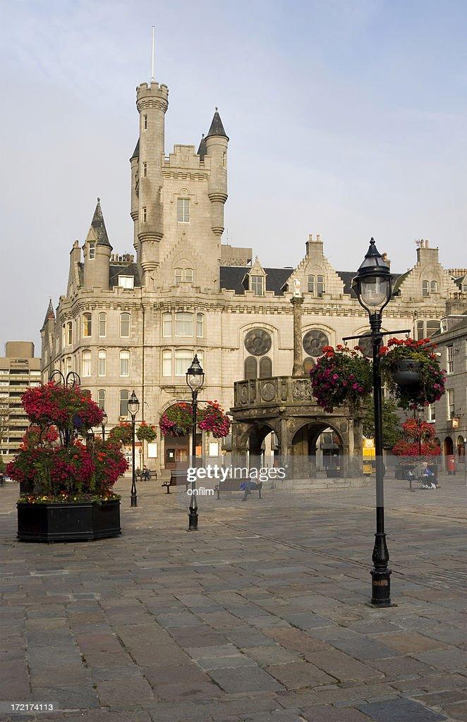 "Castlegate und das ""Mercat Cross, Aberdeen, Schottland. : Stock-Foto"