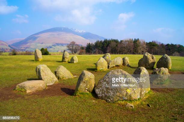 castlerigg and blencathra. - blencathra stock photos and pictures