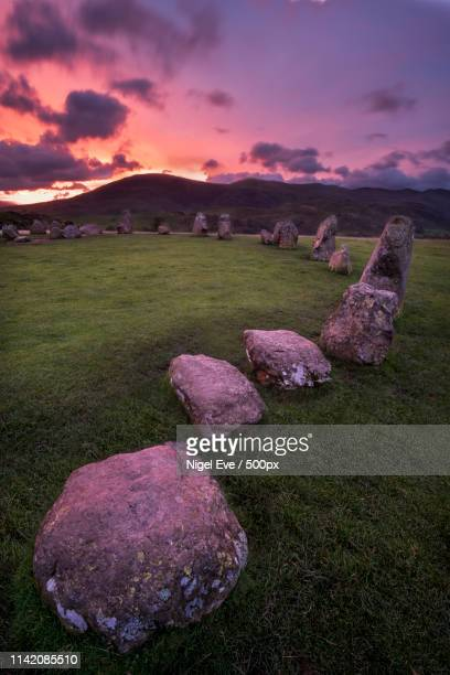 castlerigg dawn - ancient history stock pictures, royalty-free photos & images