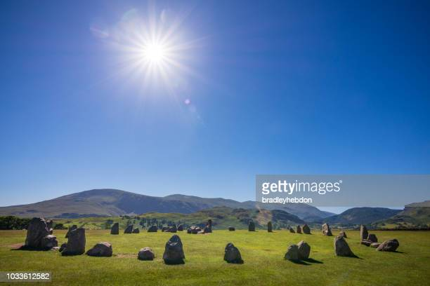 castlerigg stone circle in the english lake district - stone age stock photos and pictures