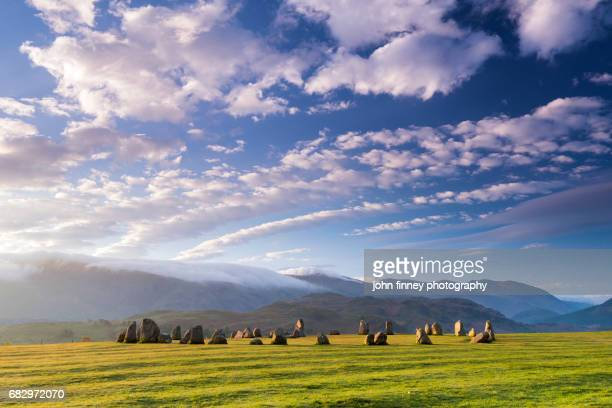 castlerigg stone circle. lake district national park. uk. - ケズイック ストックフォトと画像
