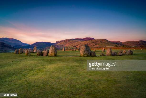 castlerigg stone circle - history stock pictures, royalty-free photos & images