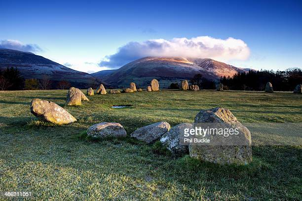 castlerigg stone circle - blencathra stock photos and pictures