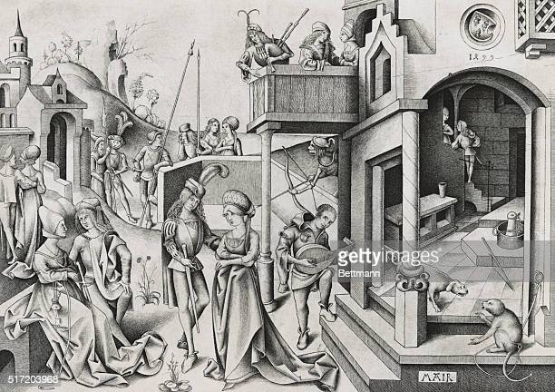 Life In a Knight's Castle After a picture by Mair von Landshut 1499