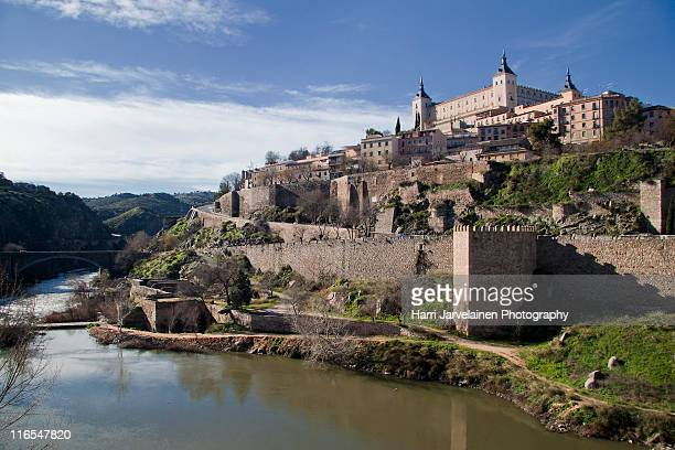 Castles of Toledo and Tagus river, Spain