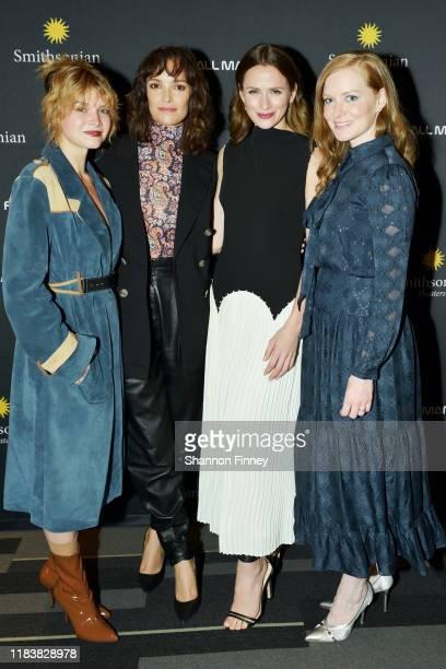 "Castmates Sarah Jones, Jodi Balfour, Shantel VanSanten, and Wrenn Schmidt attend the Washington DC premiere of ""For All Mankind"" at the Smithsonian..."