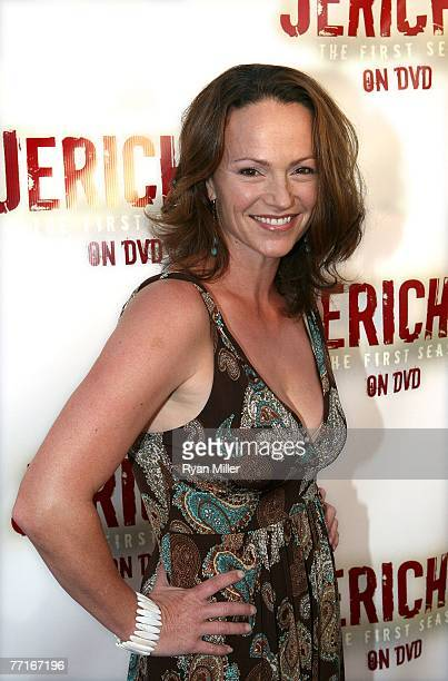 Castmember actress Clare Carey arrives for the CBS DVD release of Jericho The First Season at the new Hollywood hot spot Crimson on October 2 in...