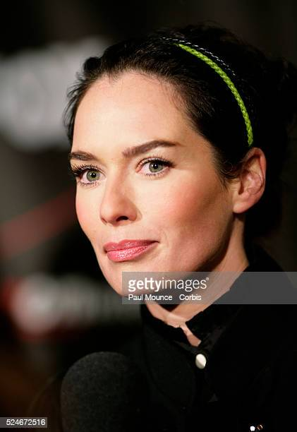 Castmember Lena Headey arrives at the celebrity screening of the Fox television series Terminator The Sarah Conner Chronicles held at the Cinerama...