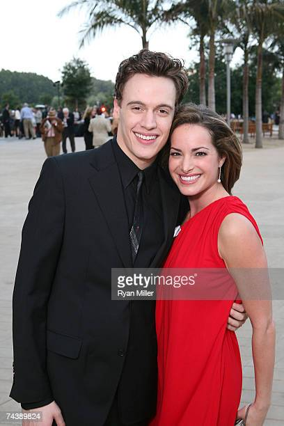 """Castmembers Actor Erich Bergen and Actress Jackie Seiden pose during the opening night party for """"Jersey Boys"""" the 2006 Tony Award winner for Best..."""