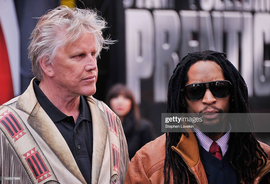 Castmembers actor Gary Busey and rapper Lil Jon attend the 'Celebrity Apprentice All Stars' Season 13 Bus Tour at on October 12, 2012 in New York City.