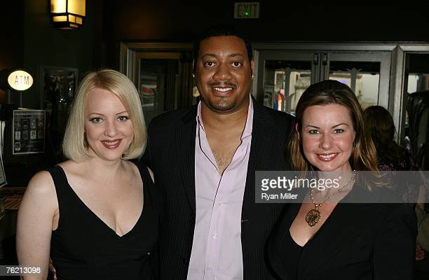 Castmembers actress Wendi McLendonCovey actor Cedric Yarbrough and actress Colleen Crabtree pose at a screening of Magnolia Pictures Closing Escrow...