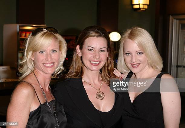 Castmembers actresses Kirstin Pierce Colleen Crabtree and Wendi McLendonCovey pose before a screening of Magnolia Pictures Closing Escrow at the...