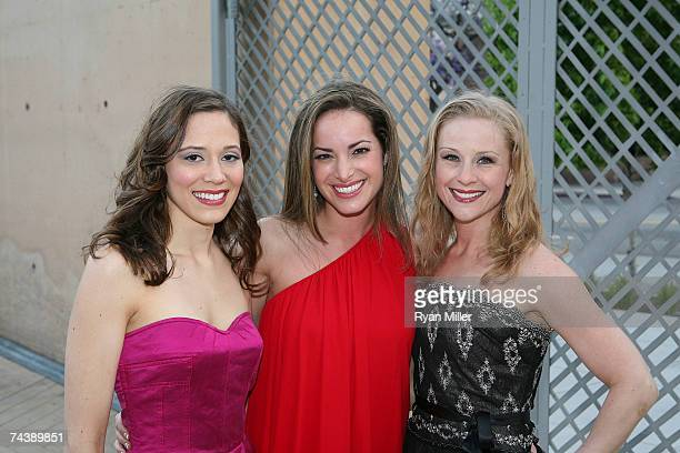 Castmembers Actresses Melissa Strom Jackie Seiden and Sandra DeNise pose during the opening night party for 'Jersey Boys' the 2006 Tony Award winner...