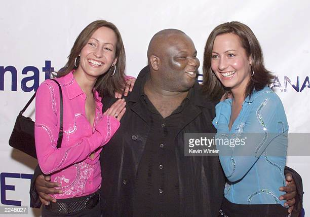 Castmembers Ade and Twins Nikki and Teena Collins at the premiere of 'Snatch' at the Directors Guild Los Angeles Ca 1/18/01