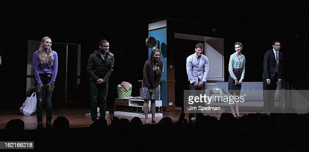 Castmembers Aleque Reid Zosia Mamet Matt Lauria Lauren Culpepper and Kobi Libii attend Really Really Opening Night at the Lucille Lortel Theatre on...