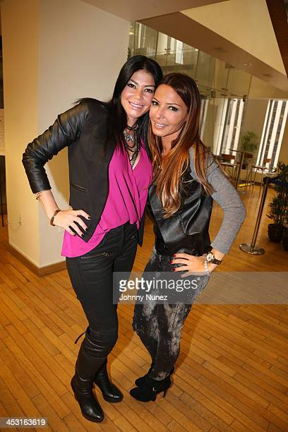 Castmembers Alicia DiMichele and Drita D'Avanzo invade The Whoolywood Shuffle at SiriusXM Studios on December 2 2013 in New York City