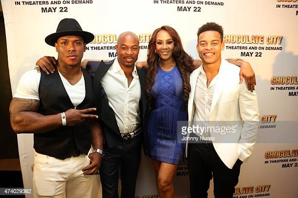 Castmembers Bolo The Entertainer Darrin Henson Vivica A Fox and Robert Ri'chard attend the Chocolate City New York screening at AMC Empire 25 theater...
