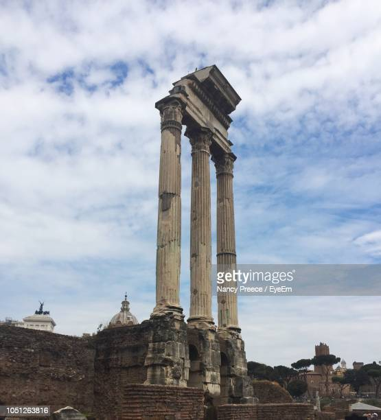 Castor And Pollux Temple Against Sky