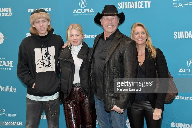 CastorHetfield Marcella Hetfield James Hetfield and Francesca Hetfield attend the Extremely Wicked Shockingly Evil And Vile Premiere during the 2019...