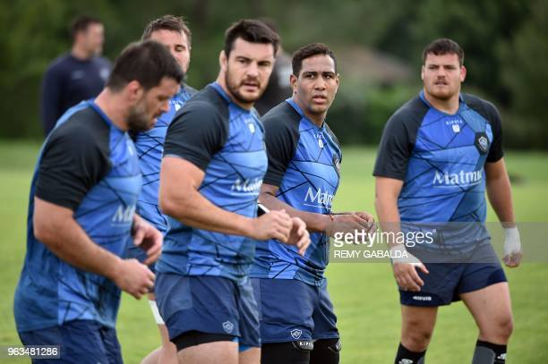 Castres' flanker Mathieu Babillot attends a training at Levezou stadium in Saix near Castres southern France on May 29 ahead of the Top 14 final...