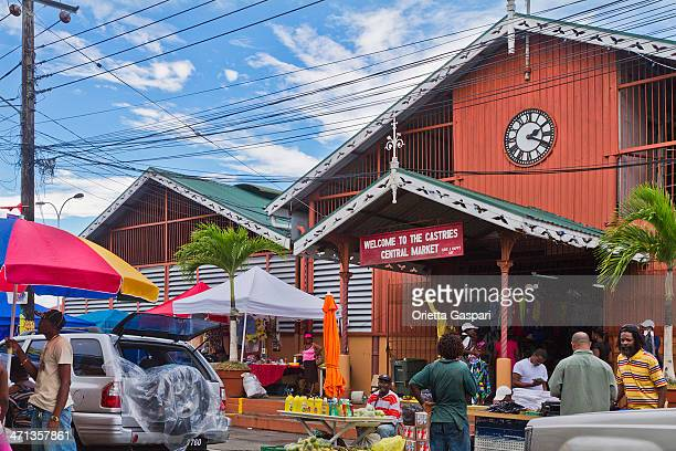 castries central market, saint lucia - st. lucia stock pictures, royalty-free photos & images