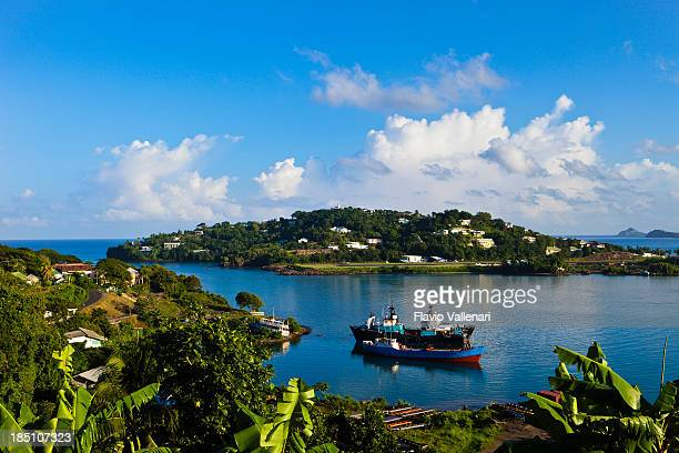 castries harbor, saint lucia - st. lucia stock pictures, royalty-free photos & images