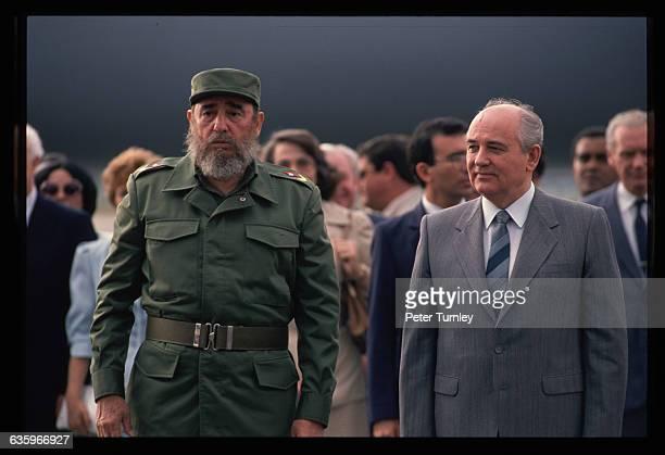 Castro and Gorbachev in Cuba