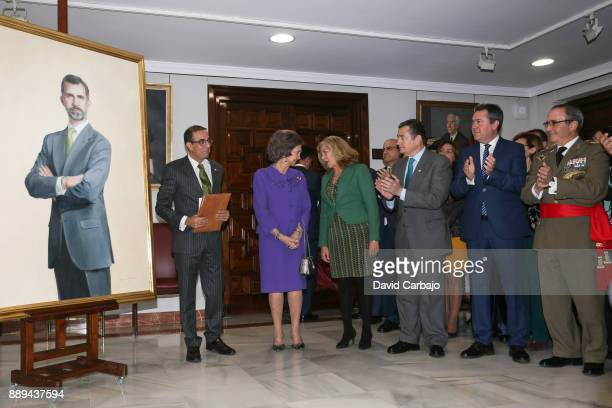 Castro Miguel AngelElena CanoQueen Sofia Antonio SanzJuan Espadas Gomez de Salazar Antonio Ramirez And Antonia Gomez Queen Sofia Attends 'Juan...