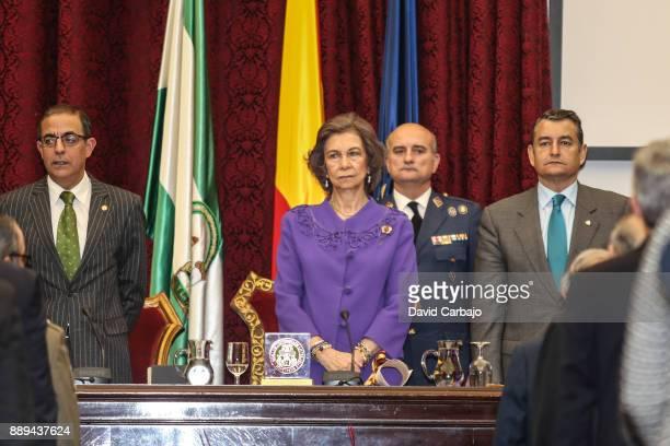 Castro Miguel Queen Sofia Antonio SanzQueen Sofia Attends 'Juan Antonio Carrillo Salcedo To Human Rights' Awards in Seville on December 10 2017 in...