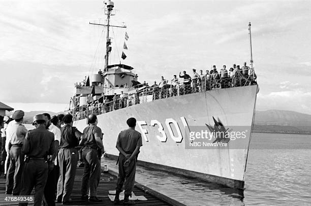 WIDE 60 'Castro's Year of Power' Episode 101 Pictured Fidel Castro's army pull into to dock during a news documentary exploring the events and...