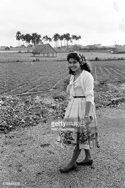 WIDE 60 'Castro's Year of Power' Episode 101 Pictured Local Pinar del Rio girl Nieves Suarez during a news documentary exploring the events and...