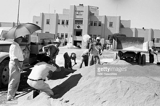 WIDE 60 Castro's Year of Power Episode 101 Pictured NBC camerman Tom Priestly at the Maceo Regimento No 1 building during a news documentary...