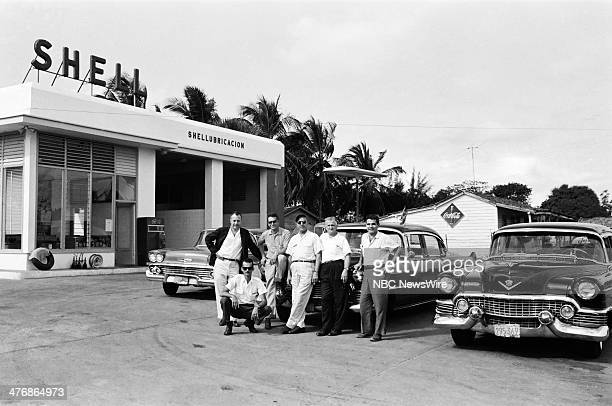 WIDE 60 Castro's Year of Power Episode 101 Pictured NBC News' Wilson D Hall at a Shell Service Station with NBC News crew during a news documentary...