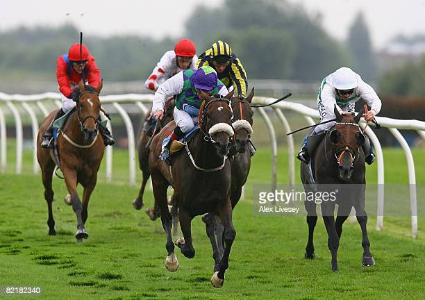 Casual Affair ridden by Jimmy Quinn wins the Book Tickets OnLine At catterickbridgecouk Handicap Stakes run at Catterick Racecourse on August 5 2008...