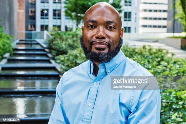 Casual African American Businessman in Blue