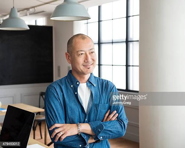 Casual asian man portrait