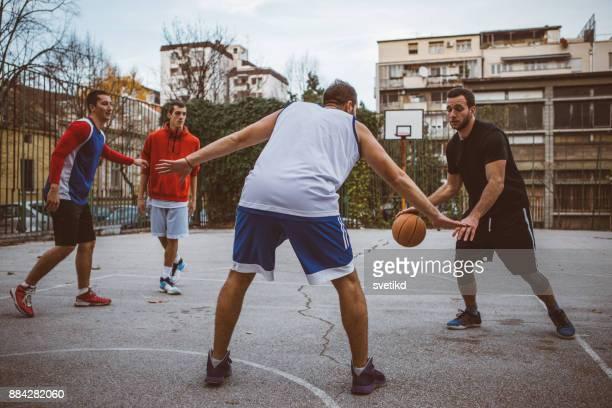 Casual basketball game