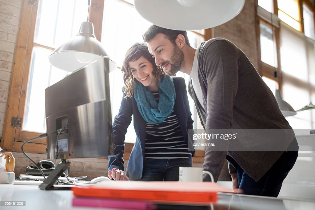 Casual business people working at the office : Stock Photo