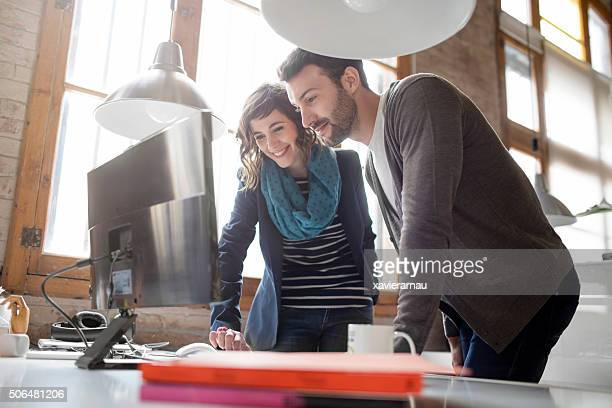 casual business people working at the office - convenience stock photos and pictures