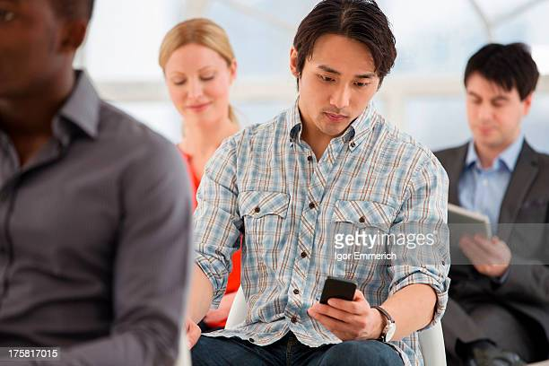 Casual businessman on cell phone