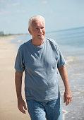 pleasant caucasian senior retired man years