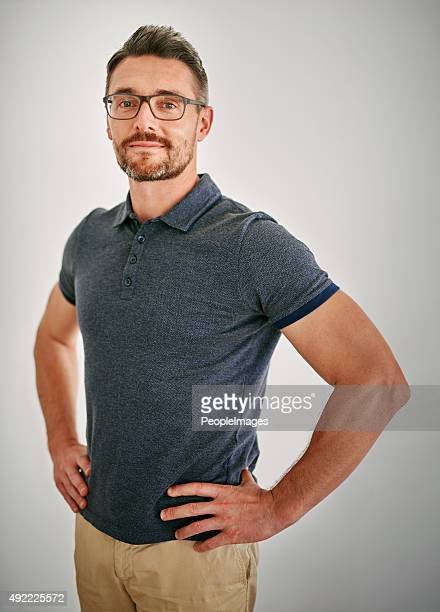 casual confidence - one mature man only stock photos and pictures