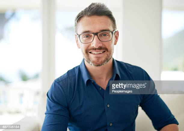 casual day at home - one mature man only stock photos and pictures