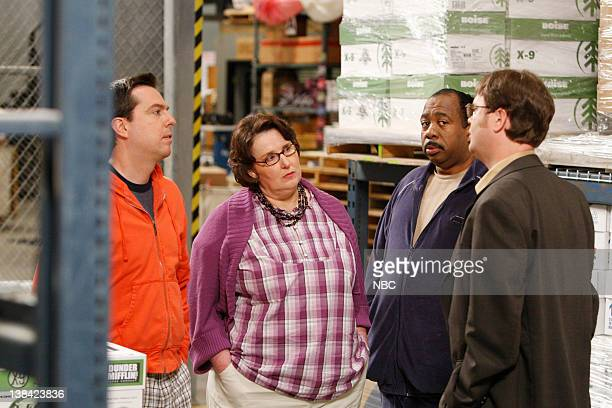 THE OFFICE Casual Friday Episode 24 Pictured Ed Helms as Andy Bernard Phyllis Smith as Phyllis Lapin Leslie David Baker as Stanley Hudson Rainn...